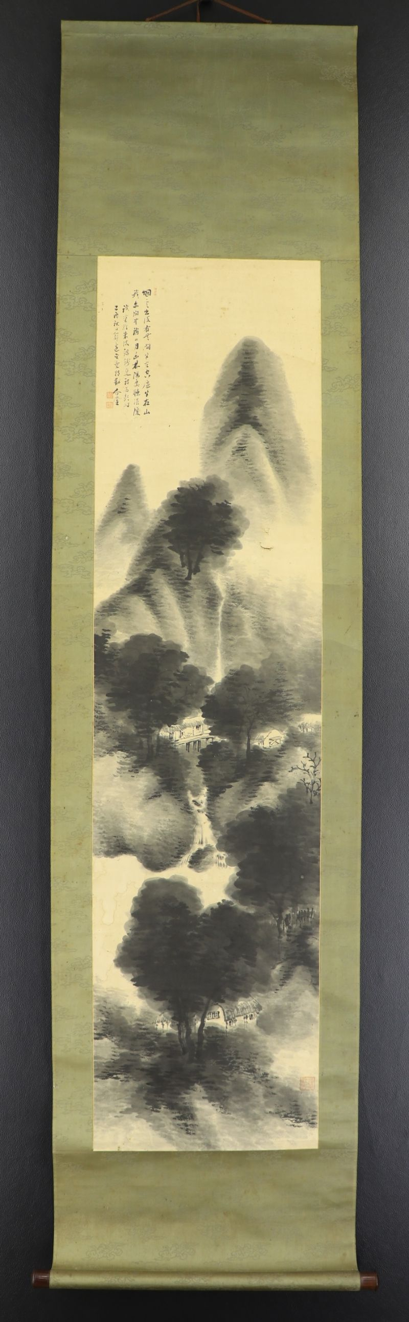 JAPANESE HANGING SCROLL ART Painting \